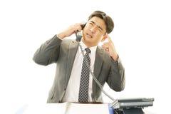 Τονισμένος ασιατικός επιχειρηματίας Στοκ Εικόνα