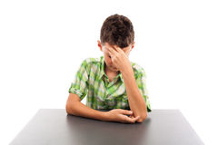 Τονισμένος schoolboy Στοκ φωτογραφία με δικαίωμα ελεύθερης χρήσης