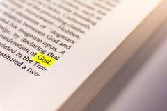 Τονισμένο βιβλίο έγγραφο παλαιό Keywor δεικτών του Word κίτρινο φθορισμού στοκ εικόνες με δικαίωμα ελεύθερης χρήσης