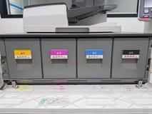 Τονωτικά χρώματος στον ψηφιακό εκτυπωτή λέιζερ ( κυανός, ροδανιλίνης, κίτρινος, black)  στοκ εικόνες
