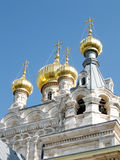 Τον Ιανουάριο του 2008 θόλων της Ιερουσαλήμ Μαρία Magdalena Church Στοκ Εικόνες
