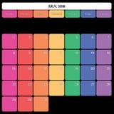τον Ιούλιο του 2018 αρμόδιων για το σχεδιασμό μεγάλες εργάσιμες μέρες χρώματος σημειώσεων διαστημικές συγκεκριμένες ελεύθερη απεικόνιση δικαιώματος