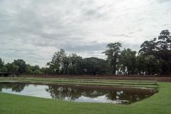 Τον Ιούλιο του 2017 της Ταϊλάνδης στρογγυλού ταξιδιού - Sukhothai - πάρκο ιστορίας Στοκ Εικόνες