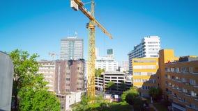 Τον Ιούλιο του 2018 circa του Βερολίνου, Γερμανία: γεμάτη ανάπτυξη στην παλαιά πόλη, χρόνος-σφάλμα απόθεμα βίντεο