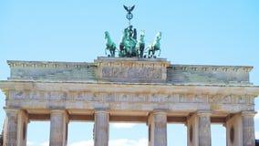 Τον Ιούλιο του 2018 circa του Βερολίνου, Γερμανία: Η διάσημη πύλη του Βραδεμβούργου απόθεμα βίντεο