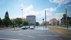 Τον Ιούλιο του 2018 circa της Δρέσδης, Γερμανία: Μεγάλη πολυάσχολη διατομή, πανοραμικό χρόνος-σφάλμα φιλμ μικρού μήκους