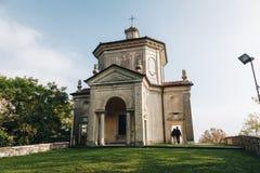 ΤΟΝ ΟΚΤΏΒΡΙΟ ΤΟΥ 2018 ΙΤΑΛΙΑ του Βαρέζε - τελευταίο παρεκκλησι στο ιερό άδυτο τρόπων του Sacro Monte του Βαρέζε ΙΤΑΛΙΑ στοκ εικόνες
