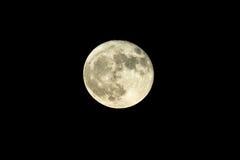Τον Οκτώβριο του 2016 πλήρες φεγγάρι συγκομιδών Στοκ εικόνα με δικαίωμα ελεύθερης χρήσης