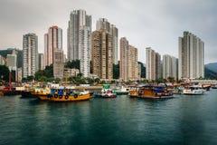 Τον ορίζοντα του Αμπερντήν, που βλέπει από το AP Lei Chau, στο Χονγκ Κονγκ, Ho Στοκ Εικόνες