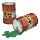 τοξικά απόβλητα χυσιμάτων Στοκ Φωτογραφίες