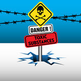 Τοξικές ουσίες ελεύθερη απεικόνιση δικαιώματος