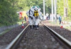 Τοξική ομάδα έκτακτης ανάγκης χημικών ουσιών και οξέων Στοκ φωτογραφίες με δικαίωμα ελεύθερης χρήσης