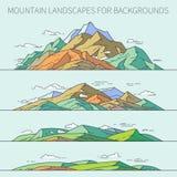 Τοπία βουνών για τα υπόβαθρα Στοκ Φωτογραφίες