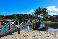 Τοπία της πόλης παραλιών Prado, Bahia, Βραζιλία Στοκ φωτογραφία με δικαίωμα ελεύθερης χρήσης