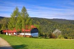 Τοπίο άνοιξη γύρω από το Hill Arber, Βοημίας δάσος (Šumava), Γερμανία Στοκ εικόνες με δικαίωμα ελεύθερης χρήσης