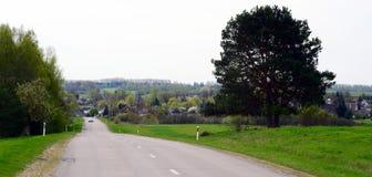 Τοπίο άνοιξη σε Kurkliai, περιοχή Anyksciai στη Λιθουανία Στοκ φωτογραφίες με δικαίωμα ελεύθερης χρήσης
