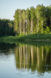 Τοπίο άνοιξη στη λίμνη στην περιοχή Kaluga (Ρωσία) Στοκ φωτογραφία με δικαίωμα ελεύθερης χρήσης