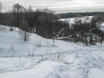Τοπίο άνοιξη στη λίμνη στην περιοχή Kaluga (Ρωσία) Στοκ Φωτογραφίες