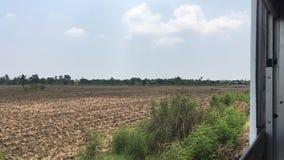 Τοπίο άποψης μεταξύ Chachoengsao σε Preng στην Ταϊλάνδη φιλμ μικρού μήκους