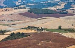 τοπίο αγροτική Τοσκάνη επ& στοκ εικόνες