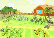τοπίο αγροτικό απεικόνιση αποθεμάτων