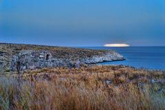Τοπίο ακτών της Πελοποννήσου στοκ εικόνα