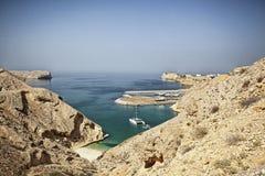 Τοπίο ακτών του Ομάν Στοκ εικόνα με δικαίωμα ελεύθερης χρήσης
