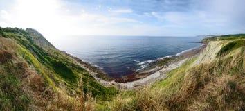 Τοπίο ακτών Panoramatic στην Ισπανία Στοκ Εικόνες