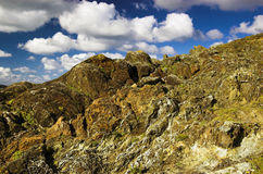 τοπίο απότομων βράχων δύσκ&omicron Στοκ Φωτογραφία