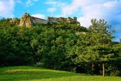 Τοπίο από τις καταστροφές κάστρων Sirok, Ουγγαρία 2 Στοκ φωτογραφία με δικαίωμα ελεύθερης χρήσης
