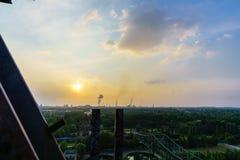 Τοπίο από Landschaftpark Duisburg Nord στην περιοχή του Ρουρ στοκ εικόνες με δικαίωμα ελεύθερης χρήσης