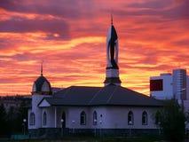 τοπίο αστικό ηλιοβασίλεμα Τουρκία μουσουλμανικών τεμενών antalya kemer Στοκ Εικόνες