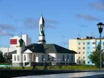 τοπίο αστικό Το μουσουλμανικό τέμενος Nadym Στοκ Φωτογραφίες