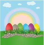 τοπίο αυγών Πάσχας χρώματο&si Στοκ φωτογραφίες με δικαίωμα ελεύθερης χρήσης