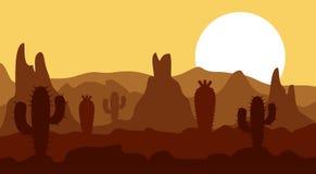 Τοπίο, βουνά και ηλιοφάνεια ερήμων Στοκ φωτογραφίες με δικαίωμα ελεύθερης χρήσης