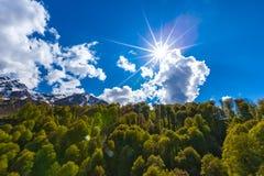 Τοπίο βουνών άνοιξη, Sochi, Ρωσία στοκ φωτογραφία με δικαίωμα ελεύθερης χρήσης