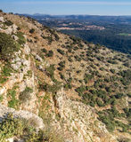 Τοπίο βουνών, ανώτερο Galilee στο Ισραήλ Στοκ εικόνες με δικαίωμα ελεύθερης χρήσης