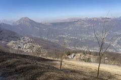 Τοπίο βουνών από Valcava, Λομβαρδία στοκ εικόνα με δικαίωμα ελεύθερης χρήσης