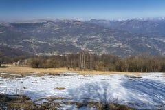 Τοπίο βουνών από Valcava, Λομβαρδία στοκ φωτογραφίες με δικαίωμα ελεύθερης χρήσης