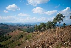 Τοπίο βουνών γιαγιάδων, γιαγιά Ταϊλάνδη Στοκ Εικόνες
