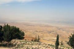 Τοπίο βουνών ερήμων (εναέρια άποψη), Ιορδανία, Μέση Ανατολή Στοκ εικόνες με δικαίωμα ελεύθερης χρήσης