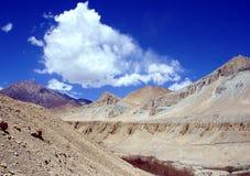 Τοπίο βουνών. Θιβέτ Στοκ Φωτογραφία
