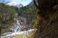 Τοπίο βουνών Καύκασου Στοκ εικόνα με δικαίωμα ελεύθερης χρήσης