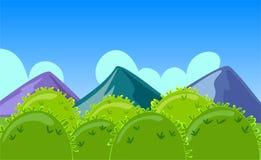 Τοπίο βουνών κινούμενων σχεδίων Στοκ Εικόνα