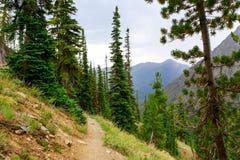 Τοπίο βουνών με ένα μονοπάτι για την πεζοπορία στοκ εικόνες