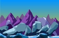 Τοπίο βουνών με τους βράχους Στοκ Εικόνες
