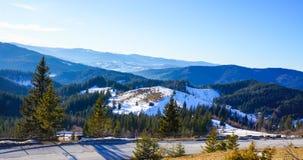 Τοπίο βουνών - Μολδαβία Ρουμανία Στοκ Εικόνες