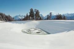 Τοπίο βουνών σε Arkhyz Στοκ εικόνα με δικαίωμα ελεύθερης χρήσης