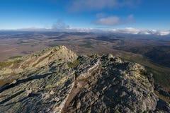 Τοπίο βουνών σε Pena το Francia, διάσημος προορισμός σε Σαλαμάνκα, Ισπανία στοκ φωτογραφίες