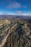 Τοπίο βουνών σε Pena το Francia, διάσημος προορισμός σε Σαλαμάνκα, Ισπανία στοκ εικόνες με δικαίωμα ελεύθερης χρήσης